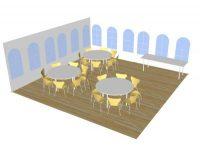 3D tegning til fest og teltudlejning billund