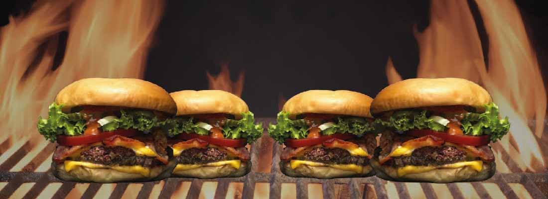 Grillet burger til fest og events i Danmark