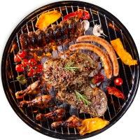 BBQ grill buffet på grill til fest og events i grill og catering