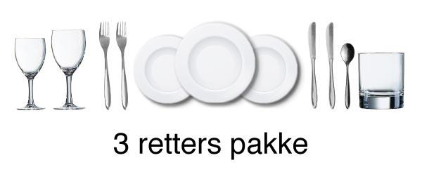 3 retters pakke